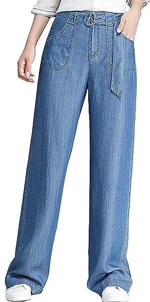 HX fashion Damas Jeans Acampanados Pantalones Vaqueros De ...