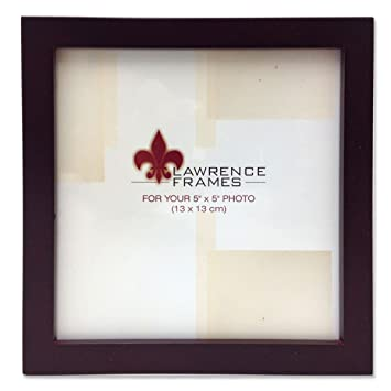 lawrence frames 755955 espresso wood picture frame 5 by 5 inch