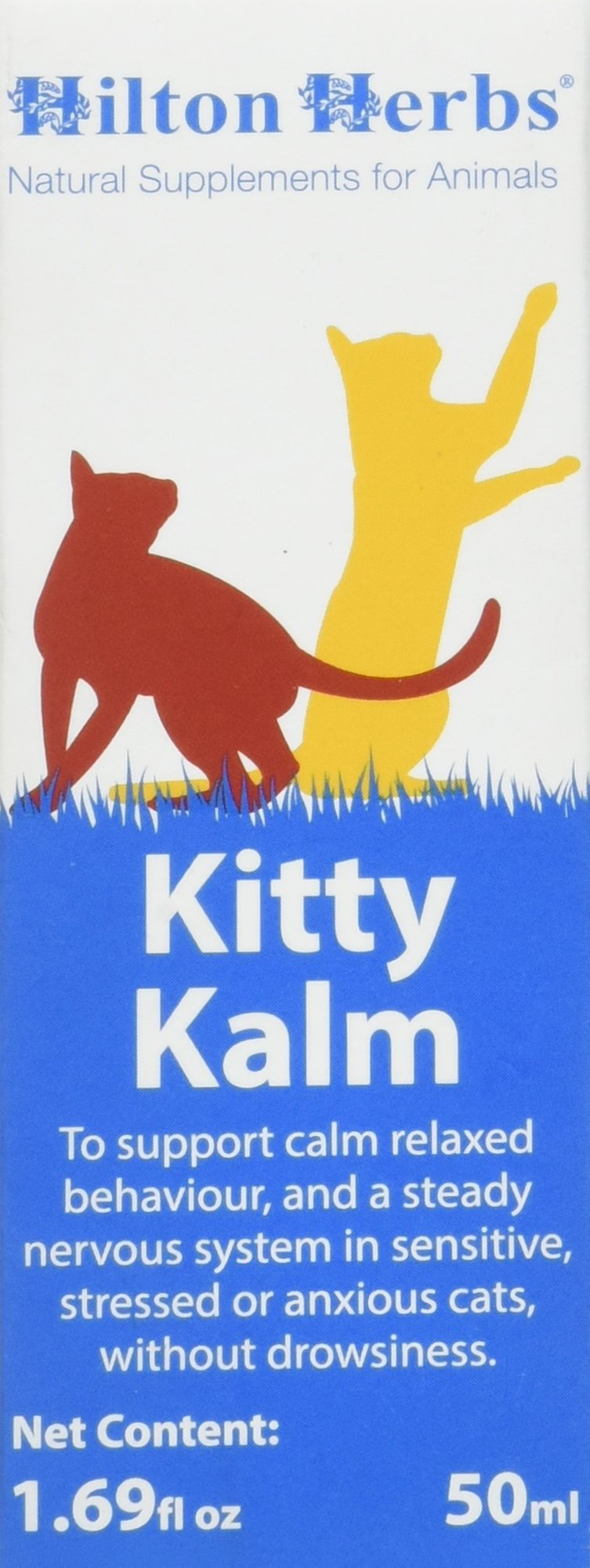 Hilton Herbs Kitty Kalm Herbal Supplement for Nervous/Anxious Cats, 1.69 fl oz (50 ml) Bottle