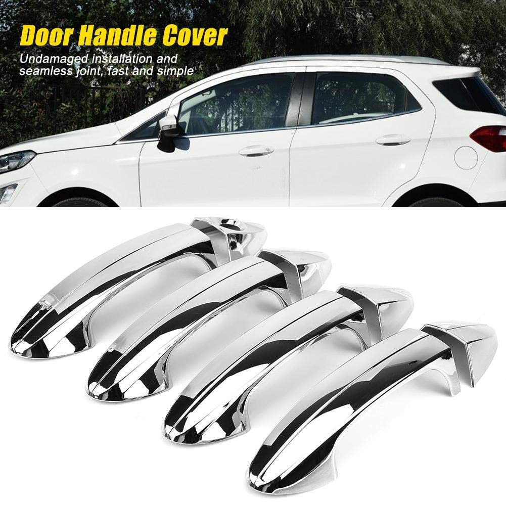 Car Chromium placcatura della maniglia della porta Trim per Fiesta 2009-2012 EBTOOLS Side Door Handle Cover Trim