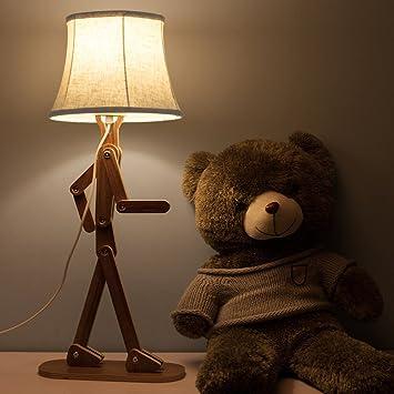 Voglee Novelty Cool Diy Desk Reading Lamp With Shade For Kids Bedroom  Adjustable Beside Table Lamp