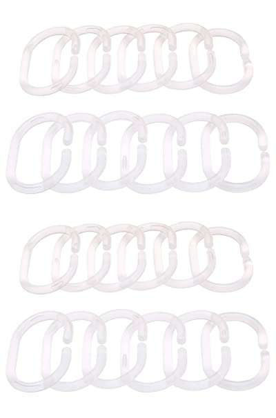 Amazon.com: IKEA RINGSJON CLEAR SHOWER CURTAIN RINGS 24 PCS: Home U0026 Kitchen