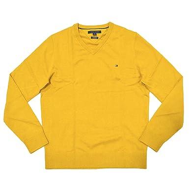 Tommy Hilfiger Men's Pima Cotton Cashmere Sweater (XS, Yellow)