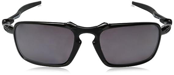 7a92f829de Oakley Men s Badman OO6020-06 Polarized Rectangular Sunglasses