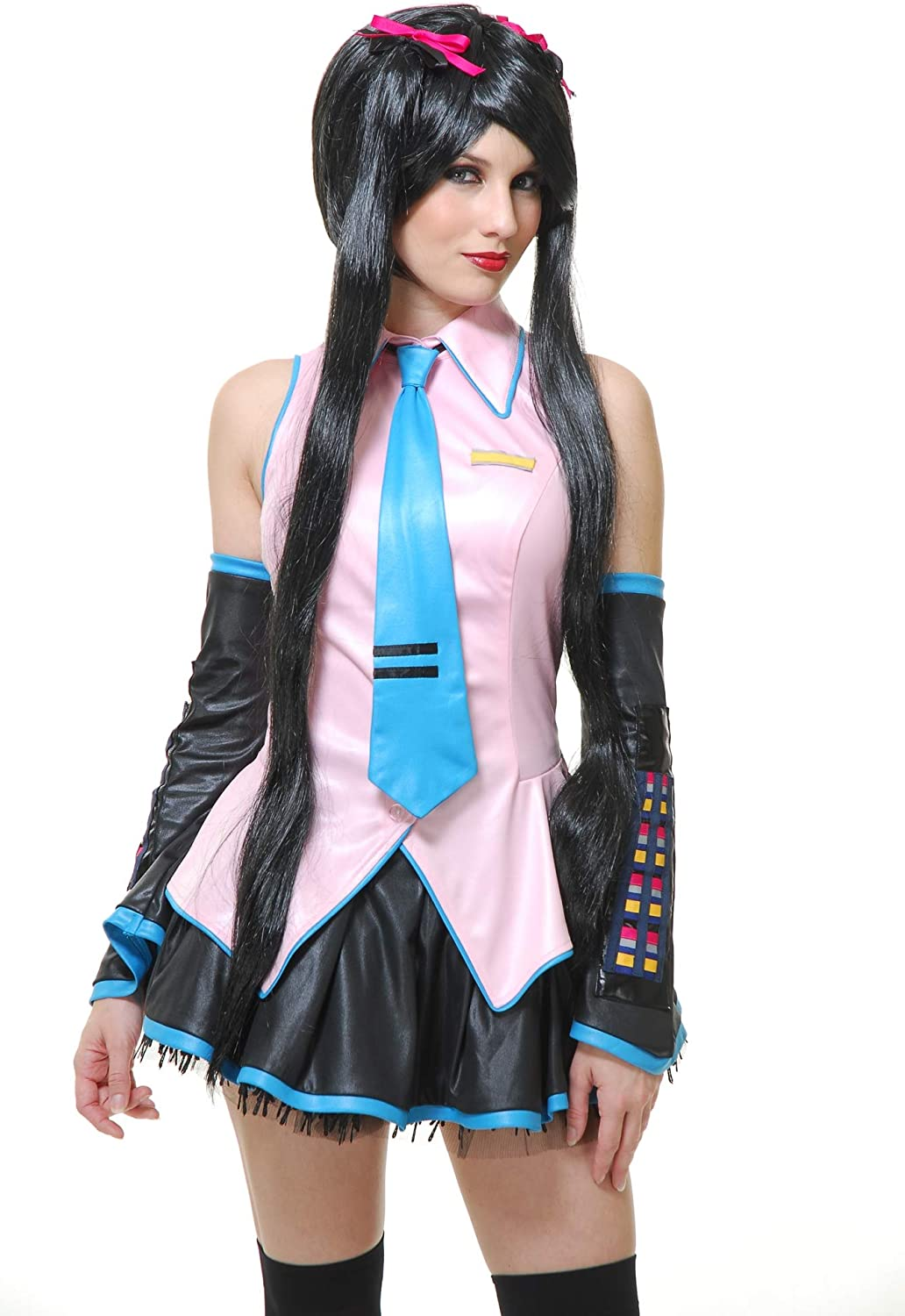 Anime Girl Cosplay VOCALOID Hatsune Miku Cosplay Costume with Wig for Halloween