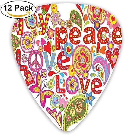Imprima con un colorido Hippie floral Corazón Felicidad de ...