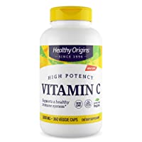 Healthy Origins Vitamin C 1,000 mg (Non-GMO Tested, High Potency, Immune Support, Vegan), 360 Veggie Caps
