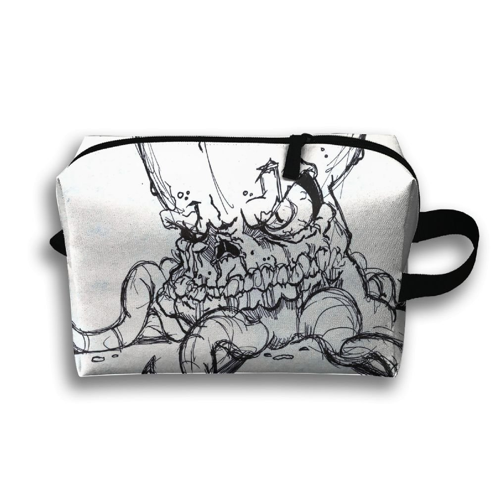 Ugly Octopus Small Travel Toiletry Bagスーパーライトトイレタリーオーガナイザー一泊旅行用バッグ   B07B46VJ67