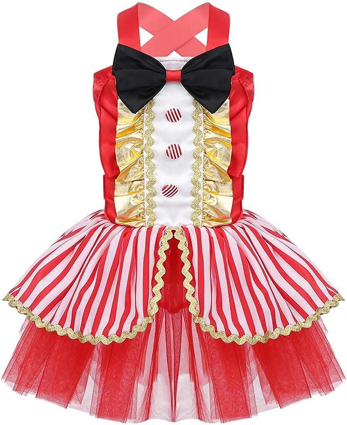ranrann Disfraz de Circo Ringmaster para Niña Infantil Tutú ...