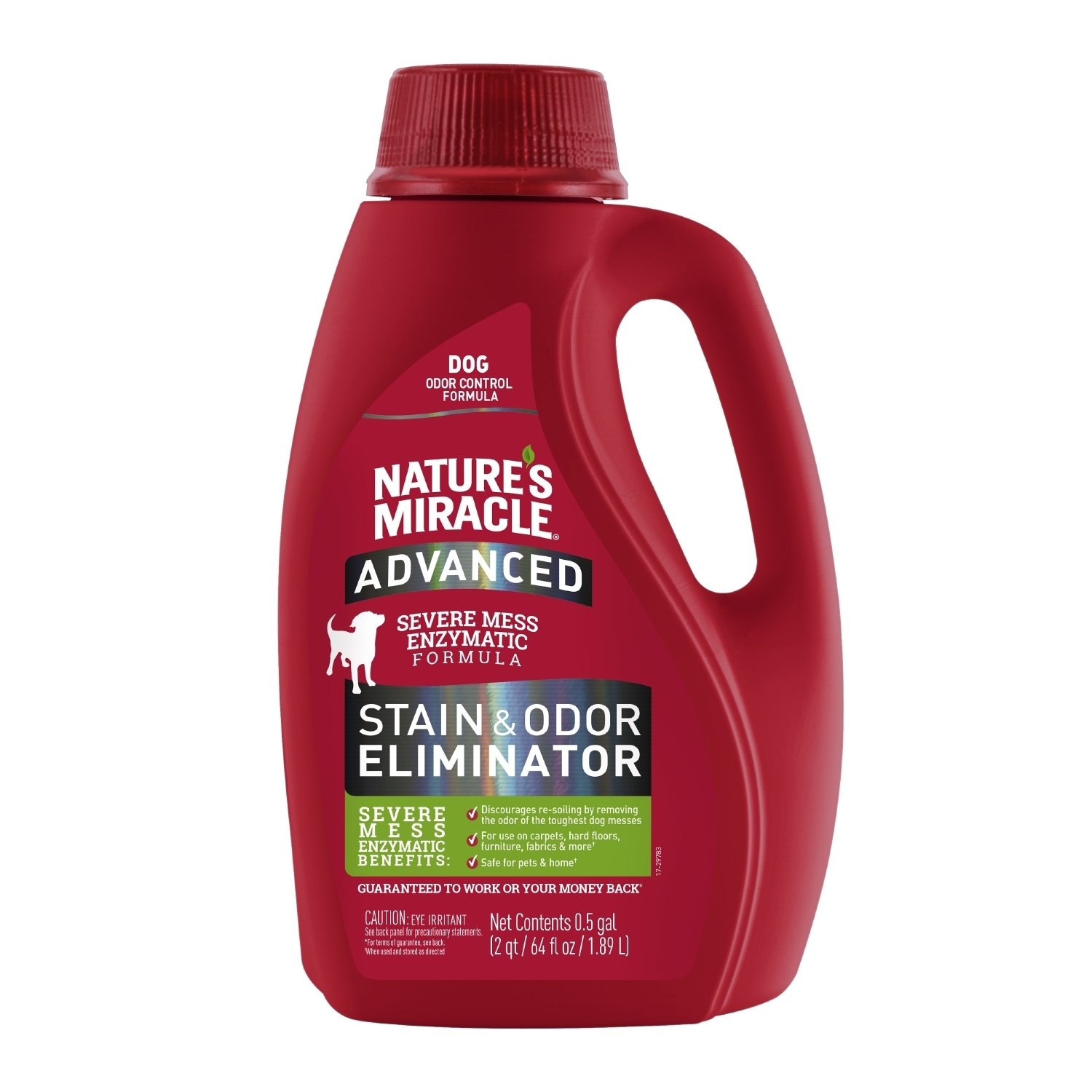 Nature's Miracle P-98142 Stain & Odor Remover, 2 qt/ 64 fl oz/ 1.89 L