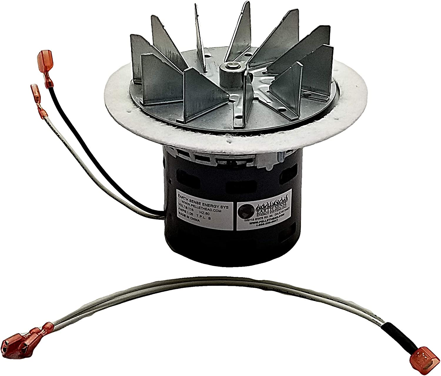 Englander Combustion Exhaust Fan Blower Motor Direct Replacement PU-076002B