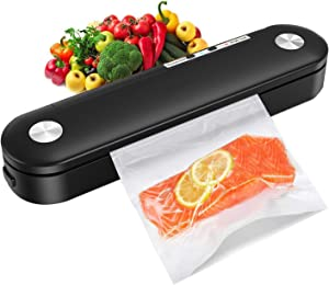 Vacuum Sealer Machine, Compact Automatic Air Sealing System Preservation with Dry & Moist Food Modes for Food Saver Vacuum Sealer Storage, Led Indicator Lights, With 10pcs Precut Bags.