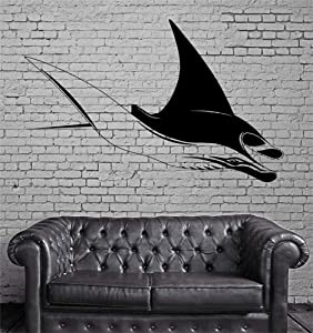 Decals Wall Stickers Sayings Lettering Room Home Wall Decor Mural Art Manta Ray Ocean Sea Marine Animal