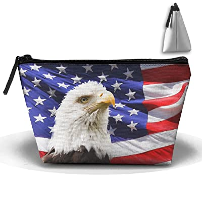 Chion Eagle American Flag Hand Bag Pouch Portable Storage Bag Clutch Handbag well-wreapped