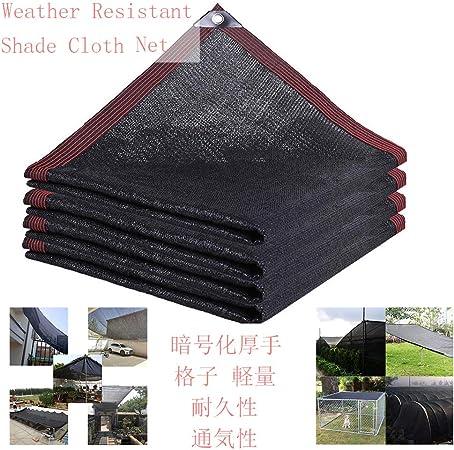 HLMBQ 85 g/m² Malla de Ocultación,Malla Sombreo Negro,Resistente de protección Solar Engrosamiento Duradera Invernadero Planta carport 2 x 10 m: Amazon.es: Hogar