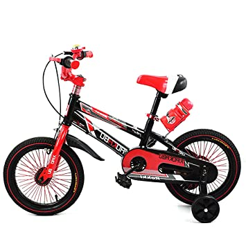 FASCOL-16 Pulgadas Bicicleta de niño Incluye Ruedas de Apoyo (Aluminio) para sentirse