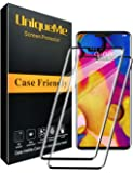 [2 Pack] UniqueMe Screen Protector For LG V40 ThinQ,[Case Friendly][Full Coverage] 3D Tempered Glass (Black)