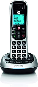 Motorola CD4011 DECT 6.0 Cordless Phone with Answering Machine and Call Block, Silver/Black, 1 Handset