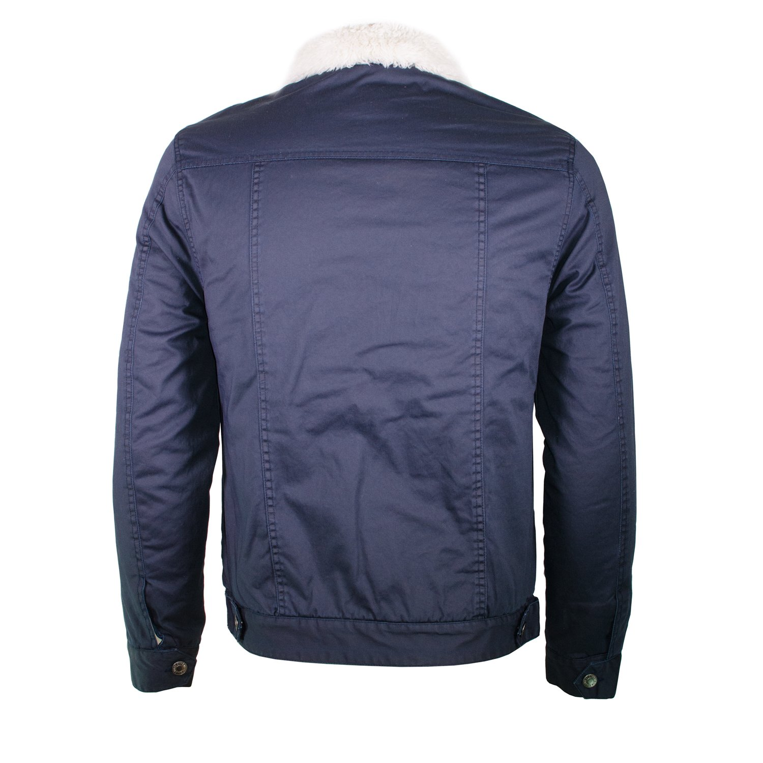 addc09d10 Amazon.com: Alta Men's Sherpa-Lined Work Twill Jacket Button Up ...