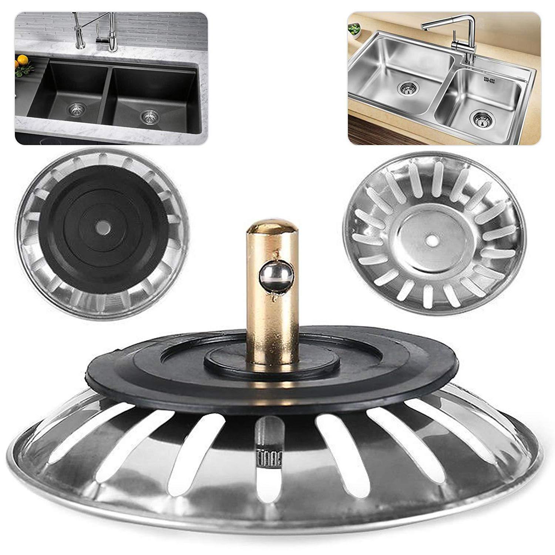 lumanuby fregadero de acero inoxidable tap/ón colador residuos Plug filtraci/ón de drenaje para cocina de drenaje equipo 1/pcs