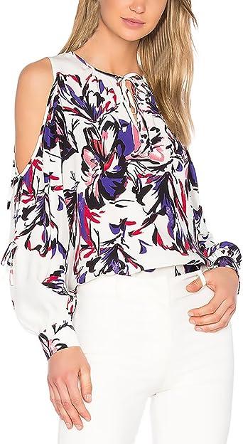 Mujer Camisas Manga Larga Blusas Elegantes Estampadas Flores ...