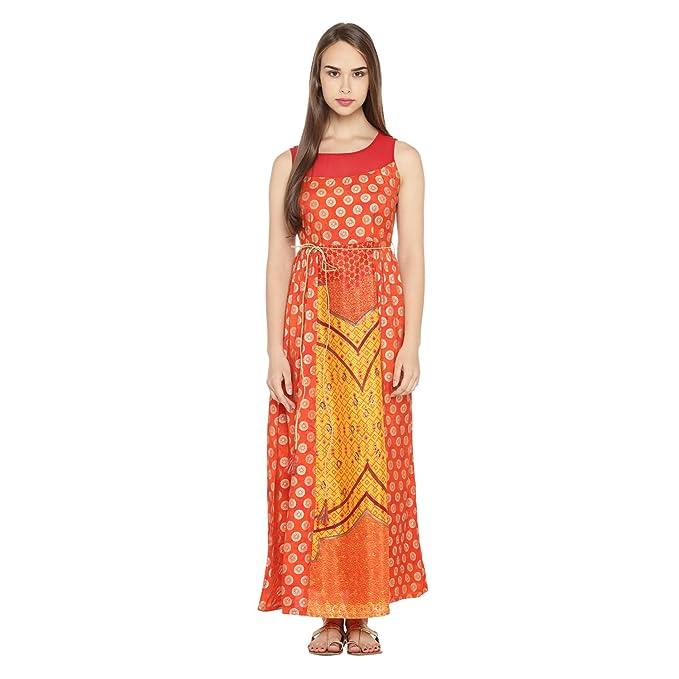 cf8a51a9875 Akkriti by Pantaloons Women s A-Line Kurta (110031162006 Gold XXL ...