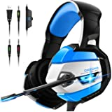 ONIKUMA Gaming Headset - Xbox One Headset PS4 Headset PC Headset with Noise Canceling Mic &7.1 Surround Bass, Gaming Headphones for PS4, Xbox One, PC,Gamecube ,Nintendo 64 (Adapter Not Included)