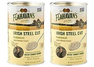 Flahavan's Irish Steel Cut Oatmeal Pack of 2