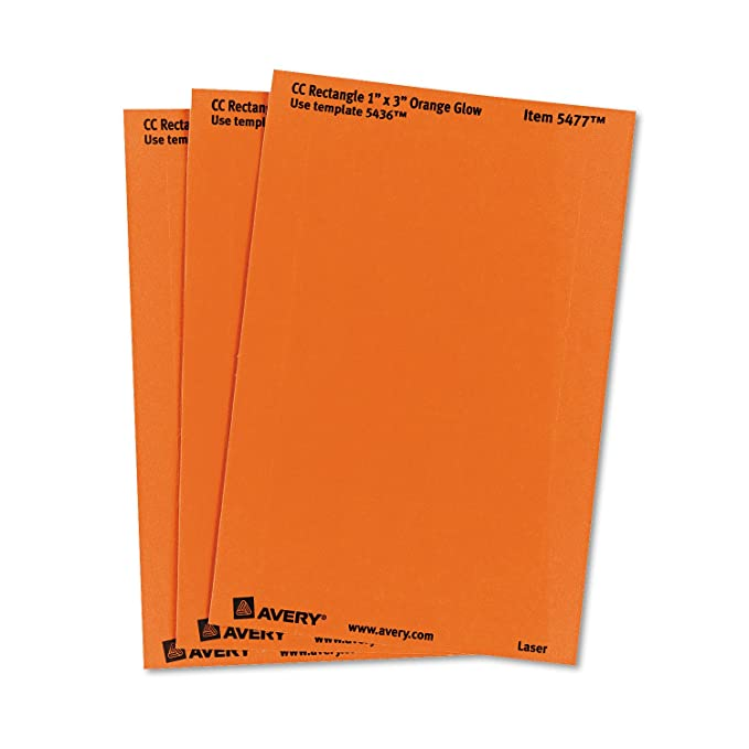 Amazon Avery Self Adhesive Removable Labels 1 X 3 Inches