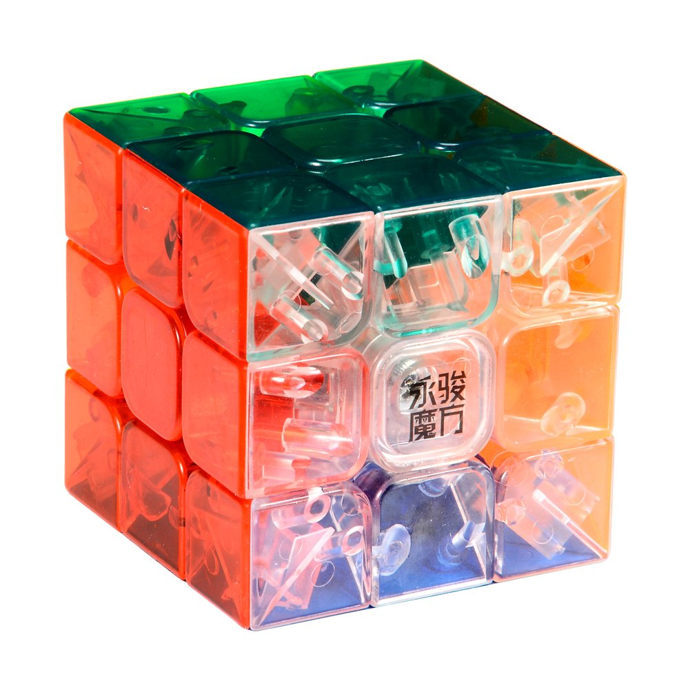 Y& J MoYu 3x3 1 X 3x3x3 YJ Yulong Stickerless Cube Puzzle, Transparent Dayan Cube MYYL-T