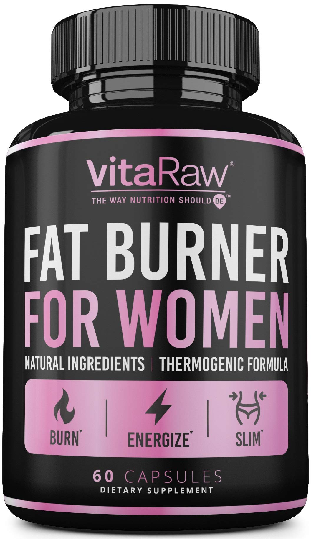 Weight Loss Pills for Women [ #1 Diet Pills That Work Fast for Women ] The Best Fat Burners for Women - This Thermogenic Fat Burner is a Natural Appetite suppressant & Metabolism Booster Supplement by VitaRaw