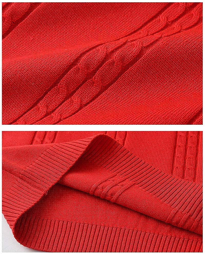 Shengwan V-Ausschnitt Strickweste Kinder Jungen M/ädchen Baumwolle Weste Top /Ärmellos Sweater Pullover