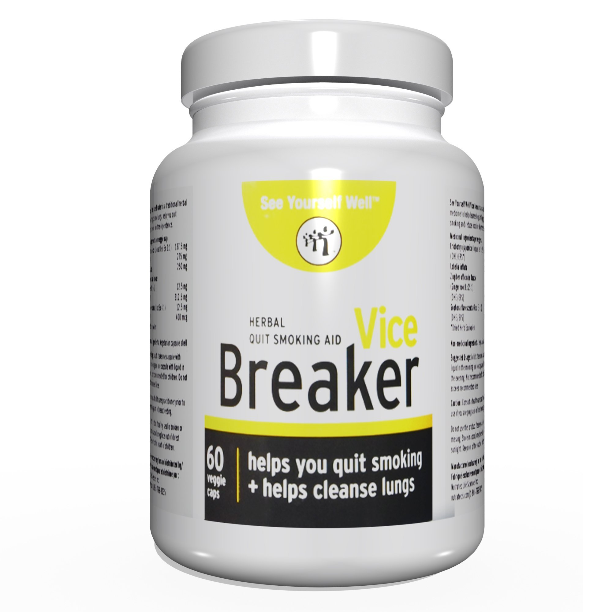 Vice Breaker: Quit Smoking for The Last Time. Works Fast - Stop Smoking Within 30 Days. Or Take with Nicorette, NicoDerm and Other Nicotine Gums, Patches or Lozenges.100% Natural & Herbal by See Yourself Well