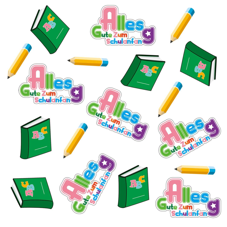 Oblique Unique/® Alles Gute Zum Schulanfang Konfetti ABC Stift Buch Tisch Dekoration Schuleinf/ührung