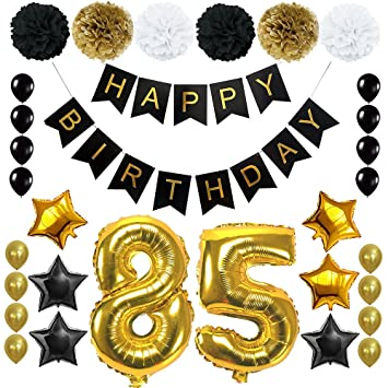 Amazon Happy 85TH Birthday Balloons Set For 85 Years Old