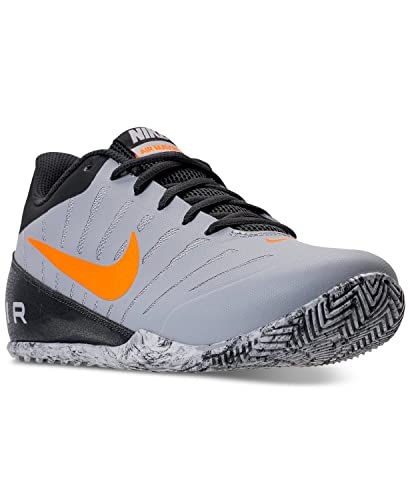 Nike Men's Sneakers Air Marvin Low 2 Wolf Grey/Bright Citrus Ankle-High  Baseball