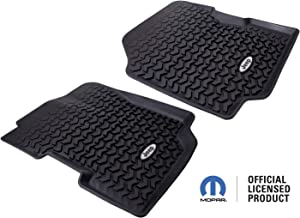 Rugged Ridge All-Terrain DMC-12920.22 Black Front Row Floor Liner For Select Jeep CJ7 and Wrangler Models