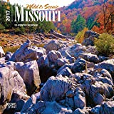 "Missouri, Wild & Scenic 2017 Mini 7inch x 7inch Hanging Square Wall ""The Show Me State"" Kansas City Ozark Mountains Nature Calendar"