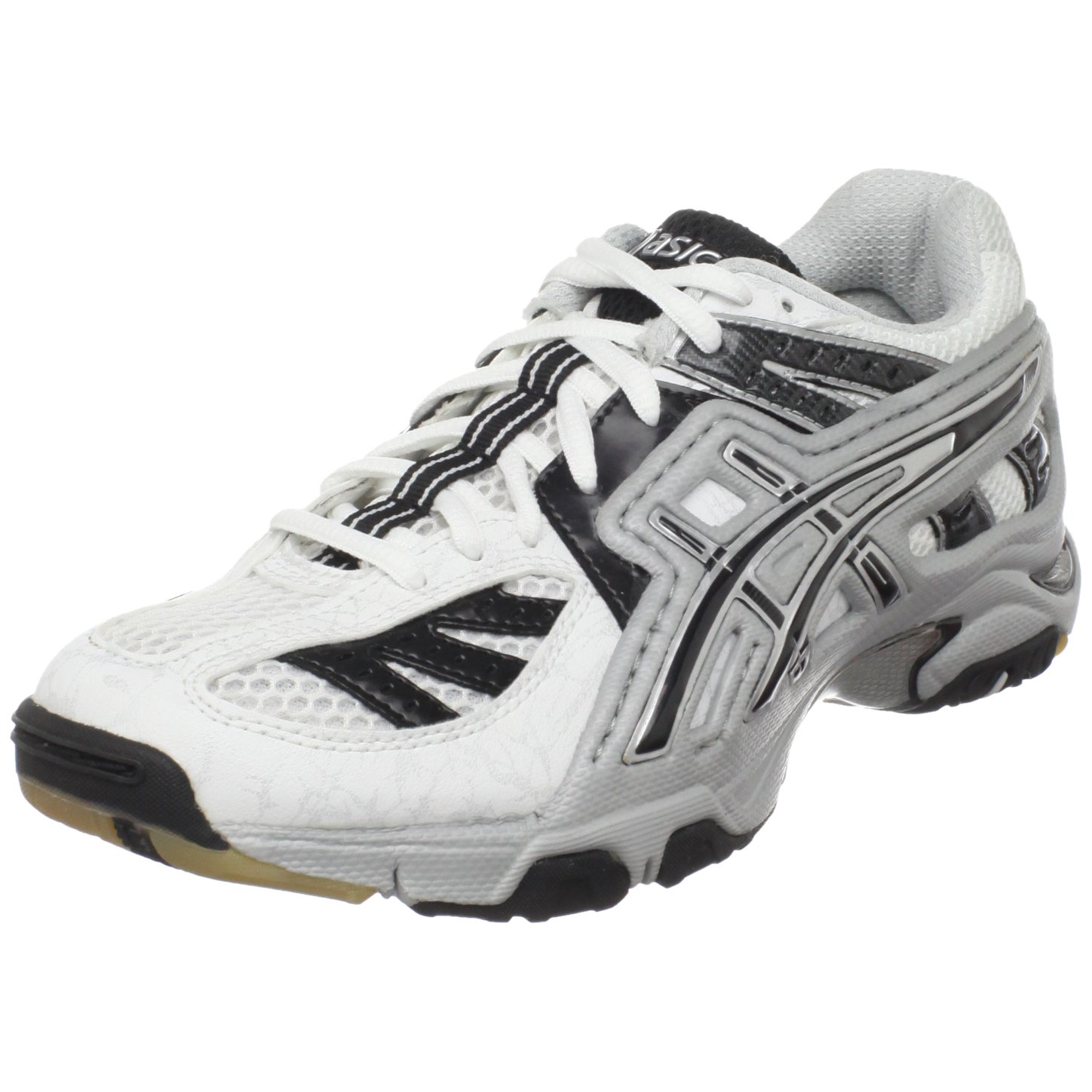 5e117eff7 ASICS Women s GEL-Volley Lyte Volleyball Shoe White Black Silver 11.5 M US  B055N