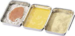 Küchenprofi Stainless Steel Breading Set, No Mess Linking, Overlapping Breading Trays, Set of 3