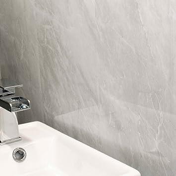 Deckenverkleidung Platten Grau Marmor Badezimmer Kuche Dusche Deckenleuchte Wet Wand Paneele Pvc Kunststoff Wasserdicht Bestandig Claddtech Verkleidungen Meets Technologie Grau Amazon De Baumarkt