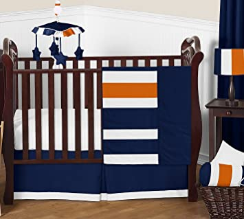 Amazon.com : Sweet Jojo Designs 11-Piece Modern Navy Blue ...