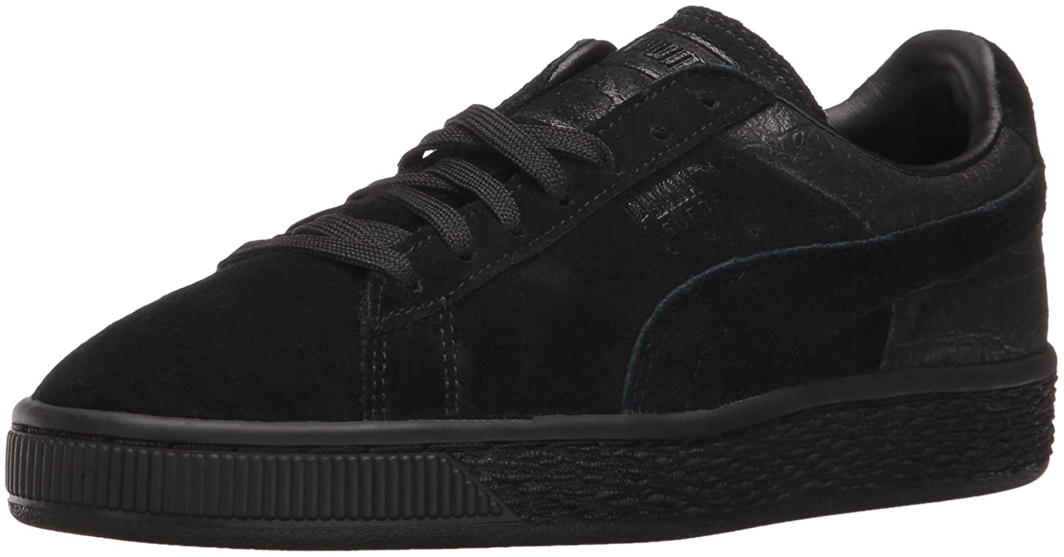 e94f76c9e4a Puma Men s Suede Classic Casual Emboss Fashion Sneaker Black  Amazon.co.uk   Shoes   Bags