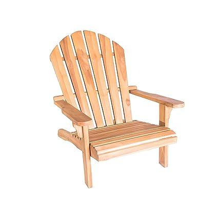 LuXeo LUX-7407-TEK Redondo Adirondack Chair, Teak Wood