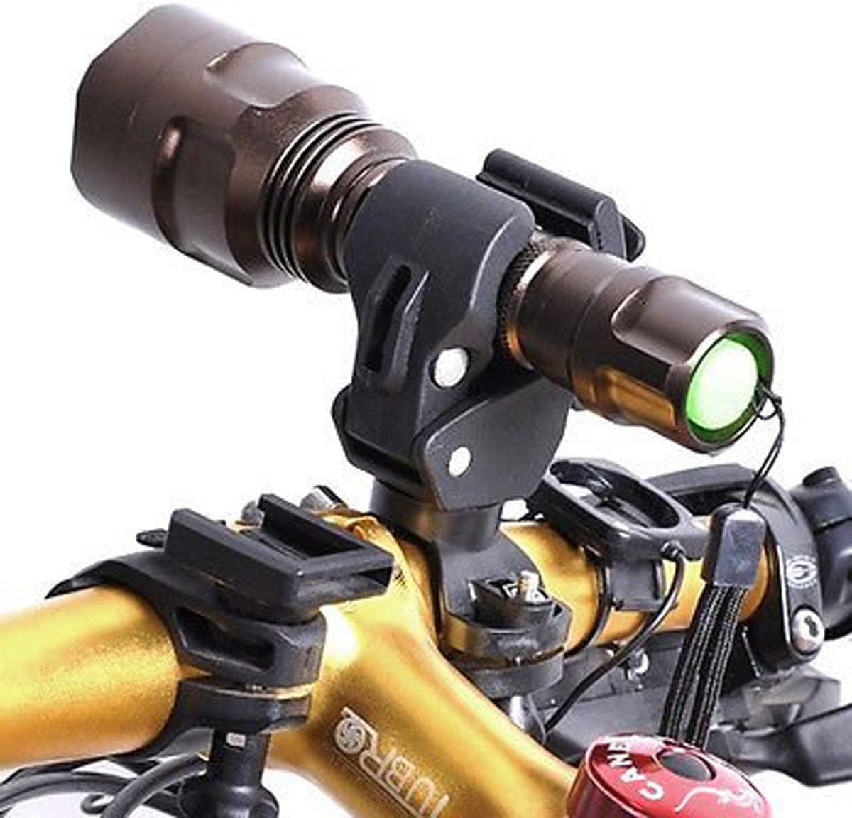 Bike Bicycle Flashlight Torch  Silicone Universal Handle Mount Holder