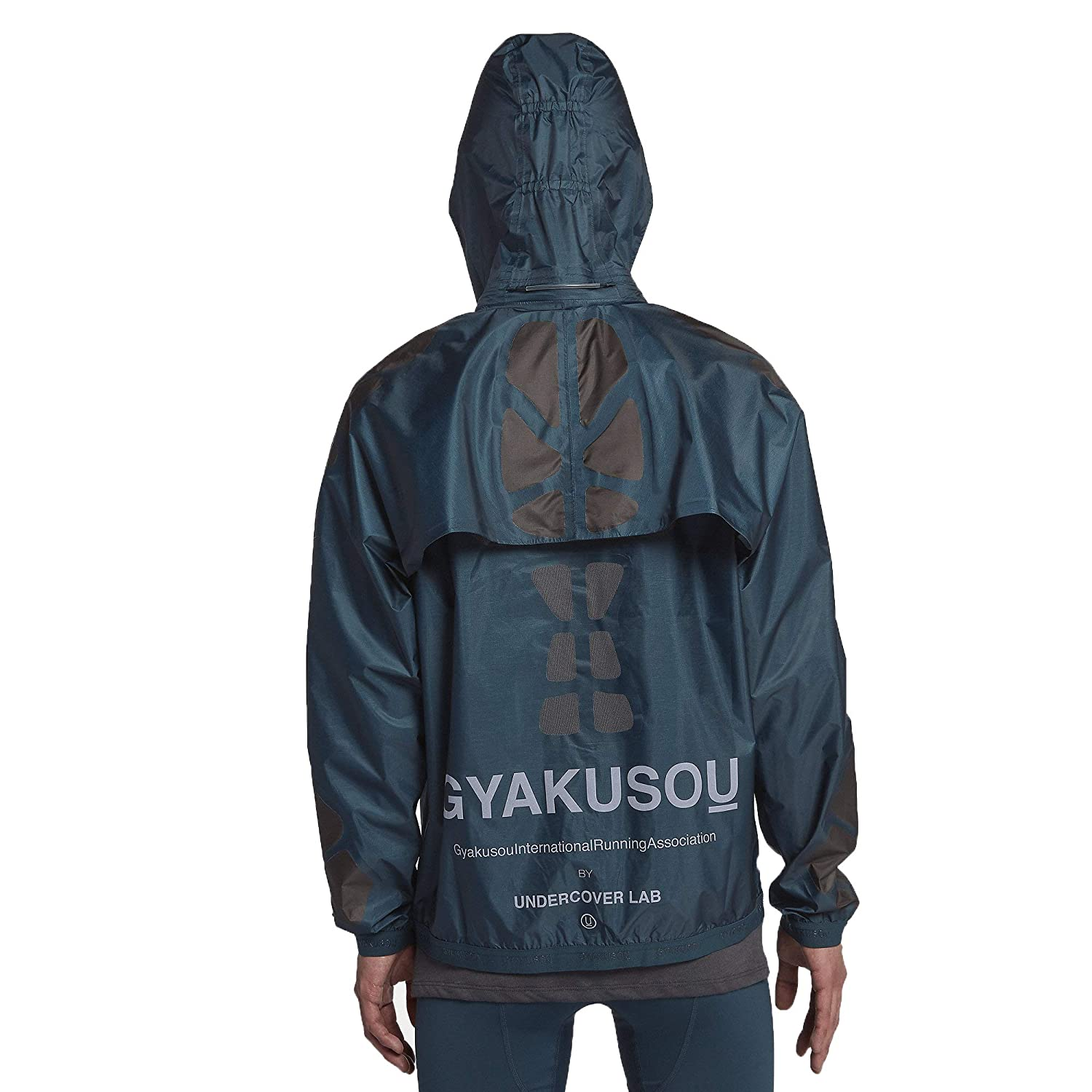 d7fe51d5f7eb Nike NikeLab Gyakusou AH1154-402 Navy Anthracite Brown Men s Hooded Running  Jacket at Amazon Men s Clothing store
