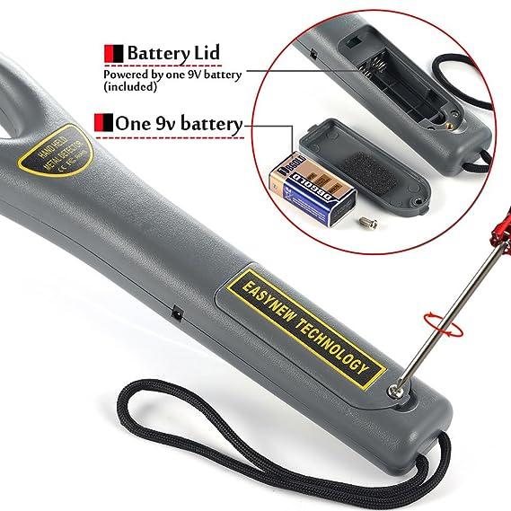 Detector de metal manual portátil y único de alta sensibilidad para inspección de seguridad: Amazon.es: Jardín
