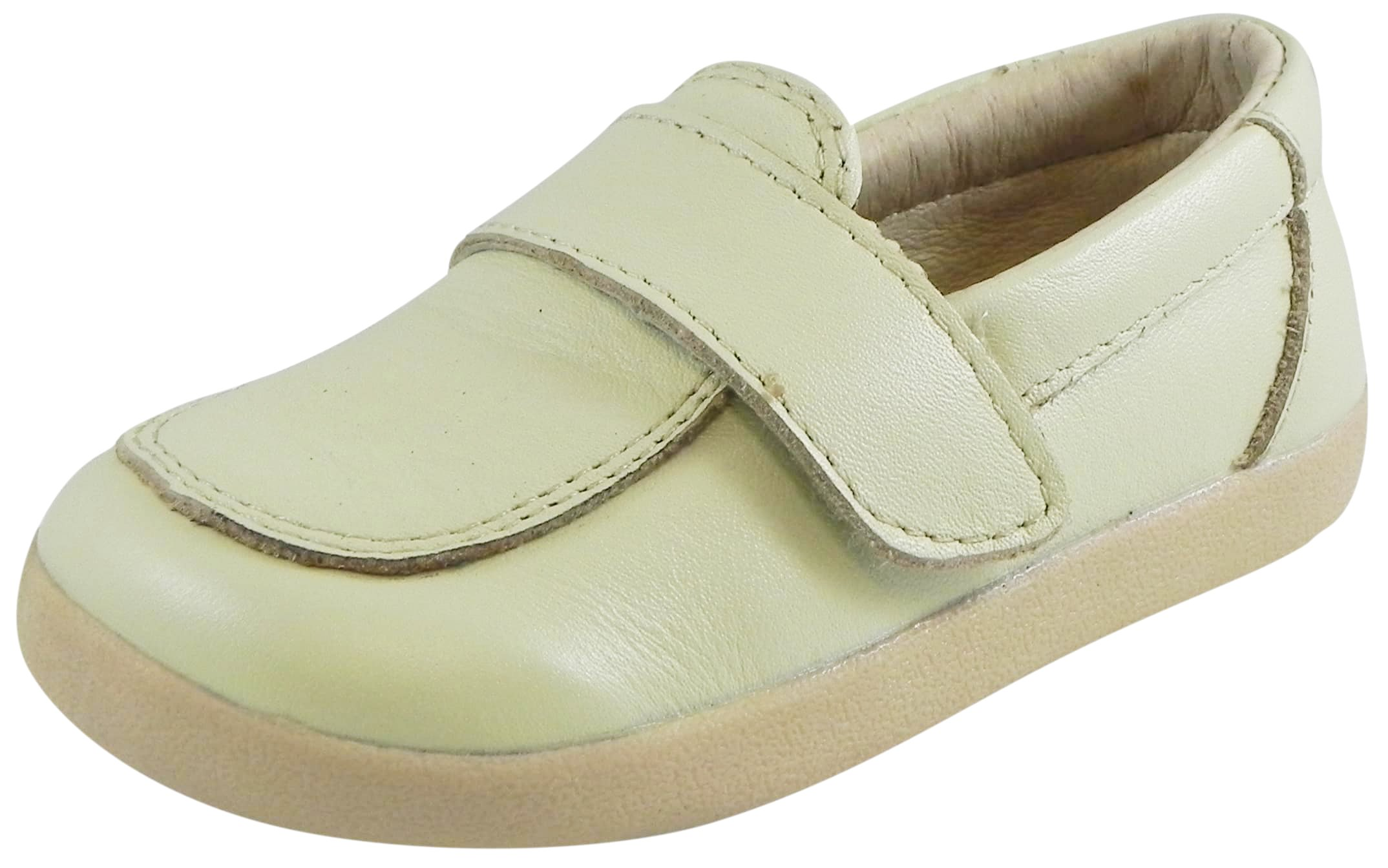 Old Soles Kid's Business Loafer Cream Champagne Leather Slip On Shoe 22 M EU/6 M US Toddler