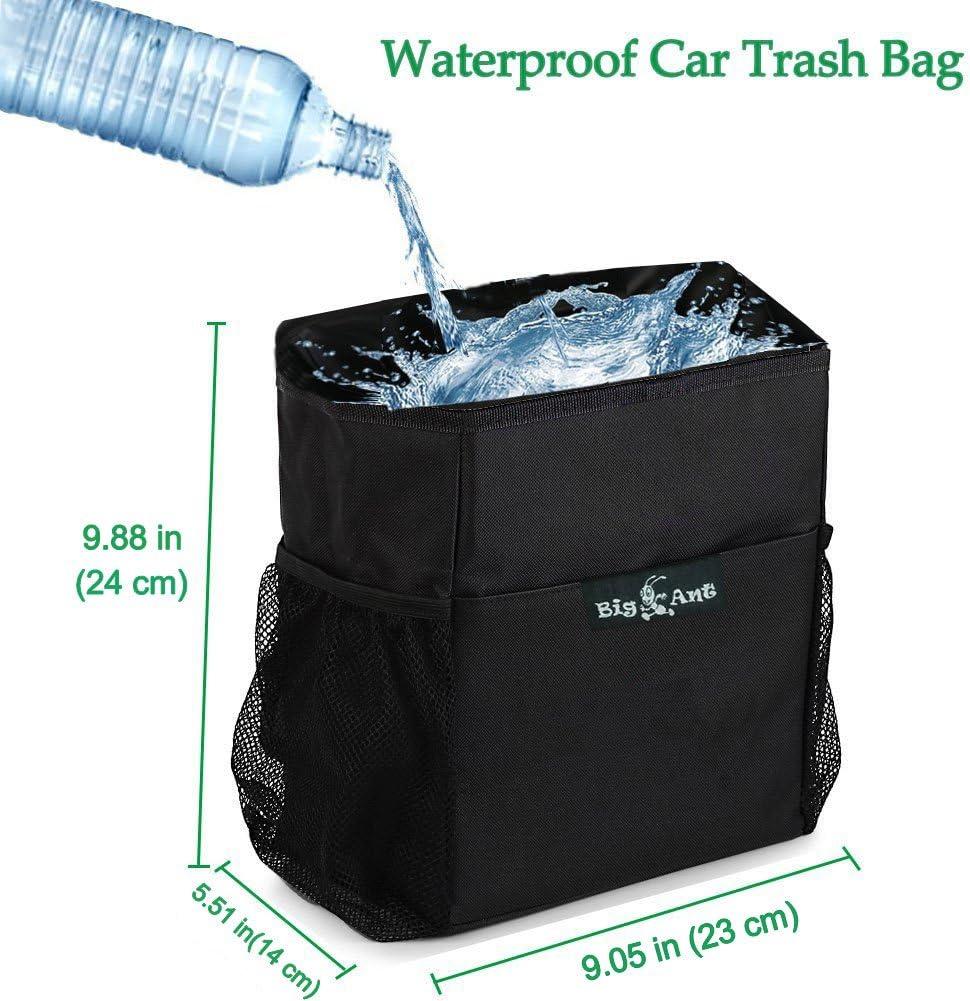 Car Rubbish Bin Big Ant Car Bin Car Garbage Holder for Driver,Waterproof Cooler Bag Car Trash Bag with Side Net Pockets