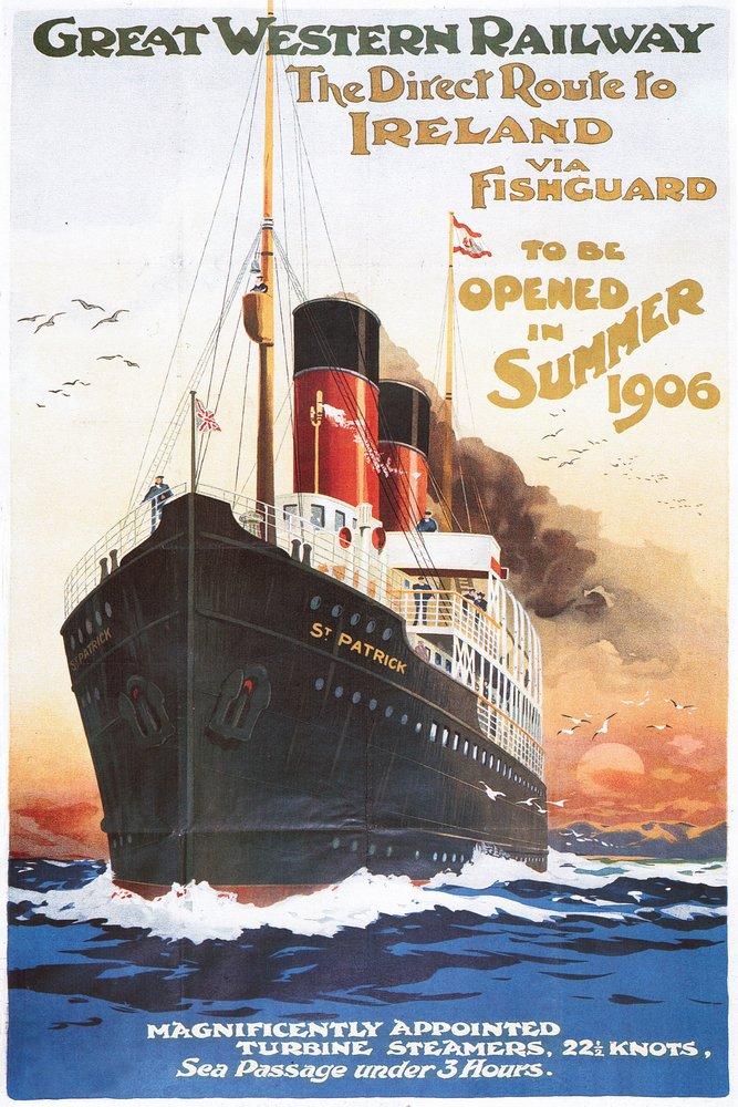 GREAT WESTERN RAILWAY – Steamship – ヴィンテージポスター 36 x 54 Giclee Print LANT-50027-36x54 36 x 54 Giclee Print  B017EA3Q8Q